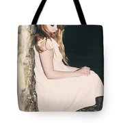 Woman In An Alley Tote Bag by Joana Kruse