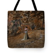 Woman In Green Gown  Tote Bag