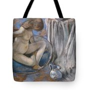Woman In The Tub Tote Bag by Edgar Degas