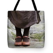 Woman Legs With Shoes Tote Bag