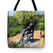 Woman On A Chair Tote Bag