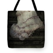 Woman On Steps Tote Bag