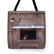 Woman On The Balcony Tote Bag