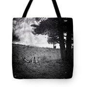 Woman On The Hill Tote Bag