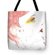 Woman Smile Watercolor Painting Tote Bag
