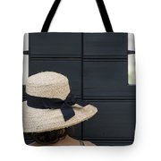 Woman With A Straw Hat Tote Bag