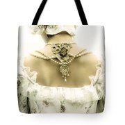 Woman With Bonnet Tote Bag