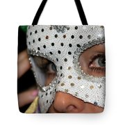 Woman With Mask Tote Bag by Henrik Lehnerer