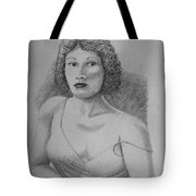 Woman With Strap Off Shoulder Tote Bag