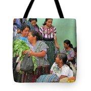 Women At The Chichicastenango Market Tote Bag
