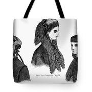Womens Hats, 1868 Tote Bag
