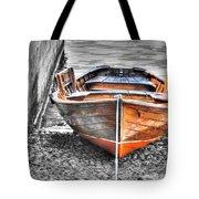 Wood Boat Tote Bag