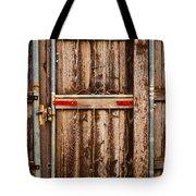 Wood Fence Door Tote Bag