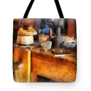 Wood Shop With Wooden Bucket Tote Bag