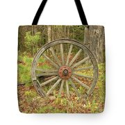 Wood Spoked Wheel Tote Bag