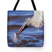 Wood Stork Fishing Tote Bag