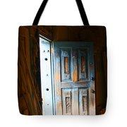 Wood Workers Door In Truchas New Mexico Tote Bag