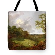Wooded Landscape With A Cottage - Sheep And A Reclining Shepherd Tote Bag