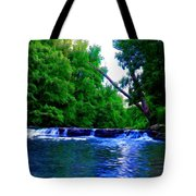 Wooded Waterfall Tote Bag by Bill Cannon
