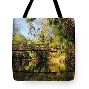 Wooden Bridge Over The Hillsborough River Tote Bag