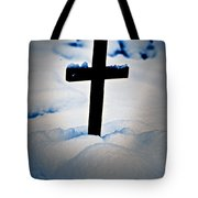Wooden Cross Tote Bag by Joana Kruse