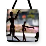 Wooden Puppet Tote Bag