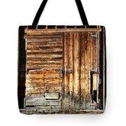 Wooden Slats Barn Tote Bag