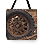 Wooden Spoked Tire Tote Bag