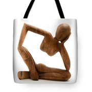 Wooden Statue Tote Bag
