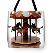 Wooden Toy Carousel Tote Bag