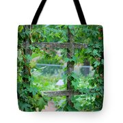 Wooden Trellis And Vines Tote Bag