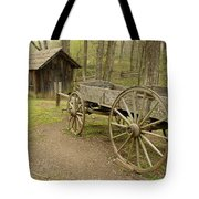 Wooden Wagon Tote Bag