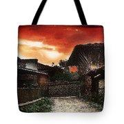 Woodern Village Tote Bag