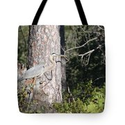 Woodland Great Blue Heron Tote Bag