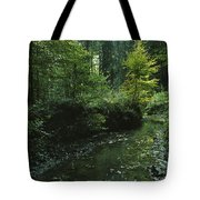Woodland View With Stream Tote Bag