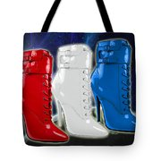 World Domination In Red White And Blue Boots Tote Bag