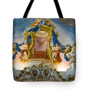 World Heritage Frescoes Of Wieskirche Church In Bavaria Tote Bag