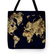 World Map Rock Tote Bag