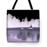 Worlds Smallest Chapel Church Negative Inverted Image Tote Bag