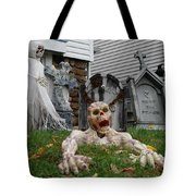 Worms Eye View Of Terror Tote Bag
