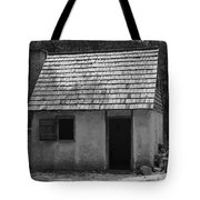 Wormsloe Cottage In Black And White Tote Bag