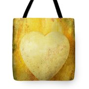 Worn Heart Tote Bag