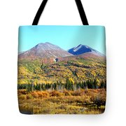 Wrangell Mountains Colors Tote Bag
