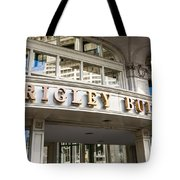 Wrigley Building Sign In Chicago Tote Bag