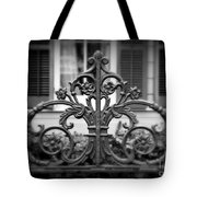 Wrought Iron Detail Tote Bag