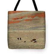 Wyoming Red Cliffs And Buffalo Tote Bag