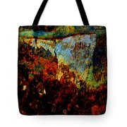Wyoming Waterfall Abstract Tote Bag
