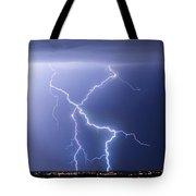 X Lightning Bolt In The Sky Tote Bag