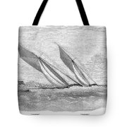 Yacht Race, 1854 Tote Bag