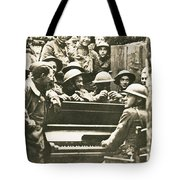 Yankee Soldiers Around A Piano Tote Bag